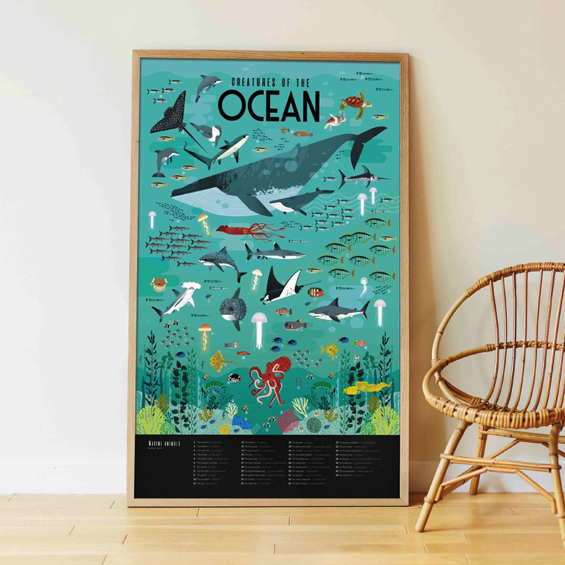 poster animaux marins