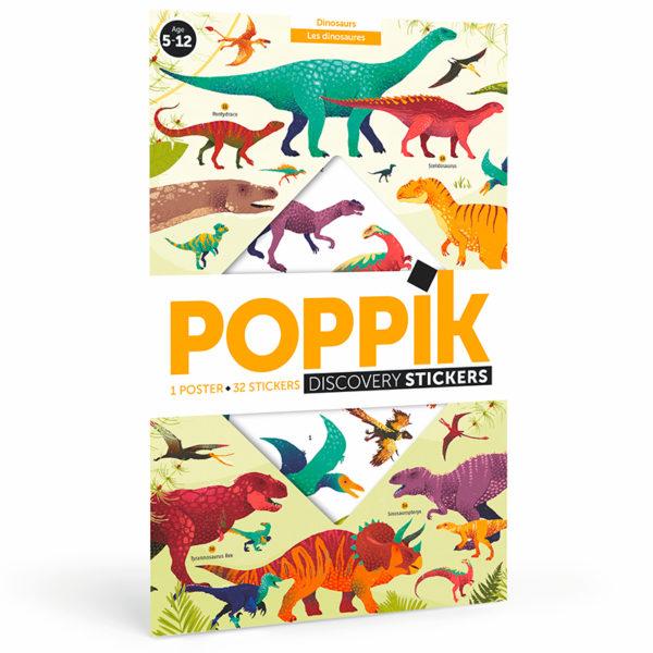 poster dinosaures affiche stickers pour enfants décoration