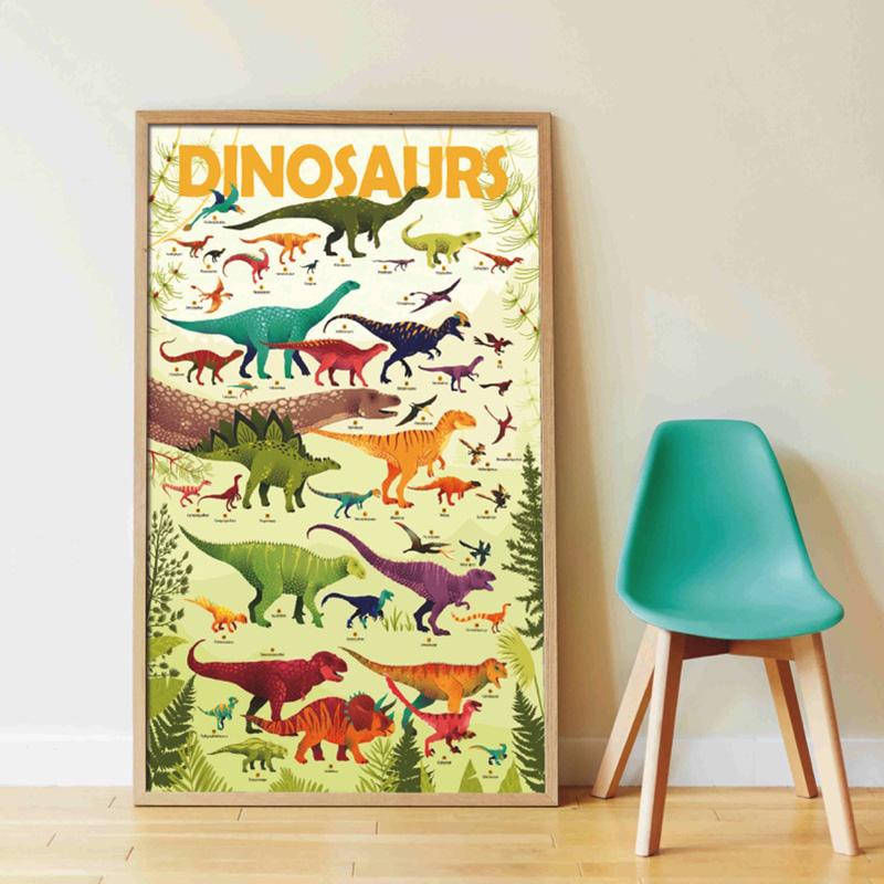 poppik poster poster dinosaurs illustration children bedroom decoration