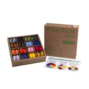 crayons de cire en forme de caillou, avec 32 couleurs différentes