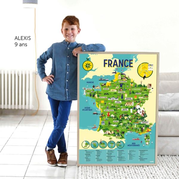 poster carte de france