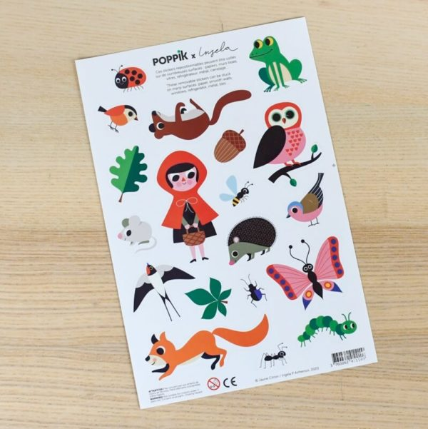stickers animaux foret
