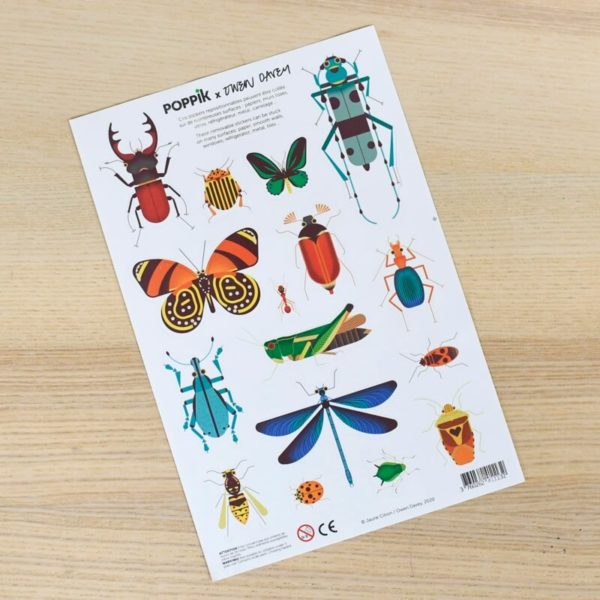 stickers insectes owen davey poppik